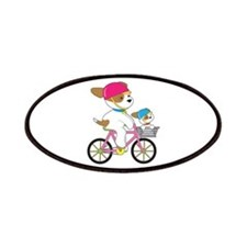 Cute Puppy on Bike Patches