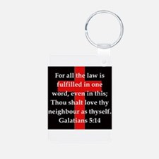 Galatians 5-14 Keychains