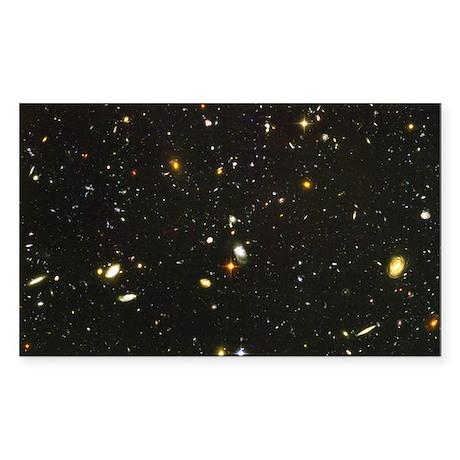10,000 Galaxies Astronomy Sticker (Rectangular
