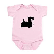 Scotty Dog and Leash Infant Bodysuit