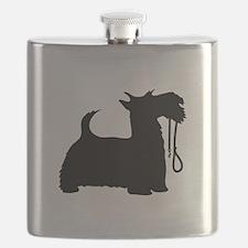Scotty Dog and Leash Flask