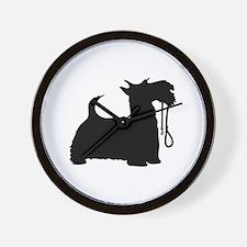 Scotty Dog and Leash Wall Clock
