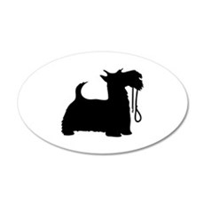 Scotty Dog and Leash Wall Decal