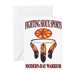 FIGHTING SIOUX SPORTS Greeting Card