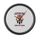 FIGHTING SIOUX SPORTS Large Wall Clock
