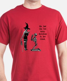 Witchy Skeleton Humor T-Shirt