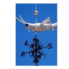 Grasshopper Weather Vane  Postcards (Package of 8)