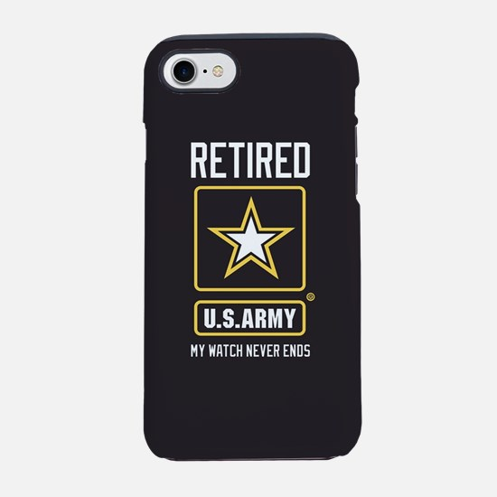 US Army Retired Watch Never En iPhone 7 Tough Case