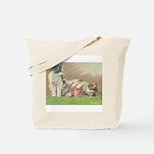 Unique Vintage knitting Tote Bag