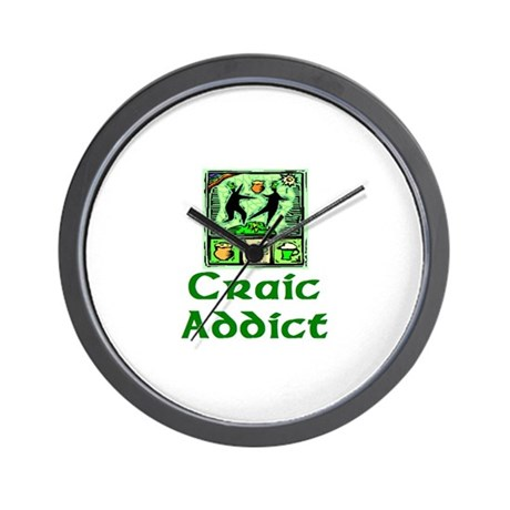 Craic Addict Wall Clock