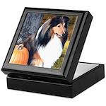 Autumn Sheltie Keepsake Box