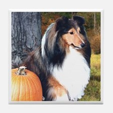 Autumn Sheltie Tile Coaster