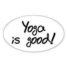 'Yoga is Good' Oval Decal