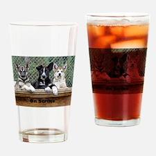 On Strike Drinking Glass