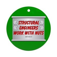 Structural Engineer Ornament (Round)