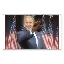 Bush Heil! Rectangle Decal