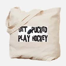Play Hockey Tote Bag