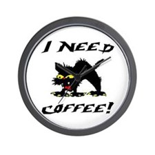 I NEED COFFEE! Wall Clock