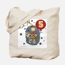 Cowgirl 5th Birthday Tote Bag