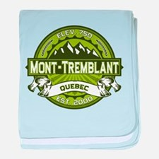 Mont-Tremblant Green baby blanket