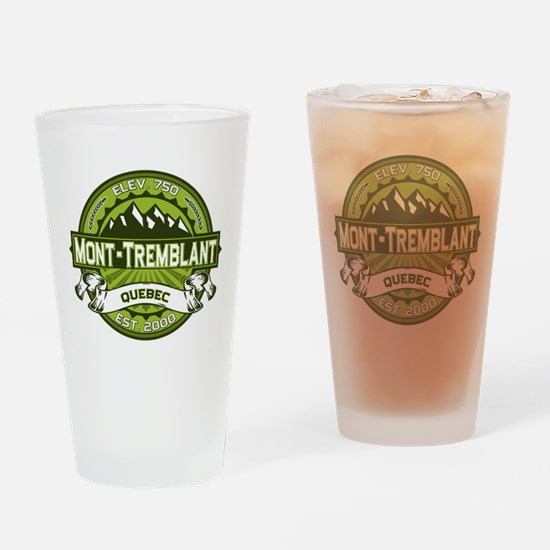 Mont-Tremblant Green Drinking Glass