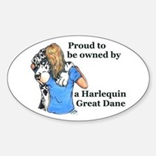Proud Harl Oval Decal