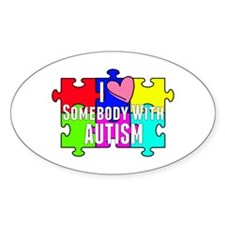 I Heart (love) Somebody With Autism Decal