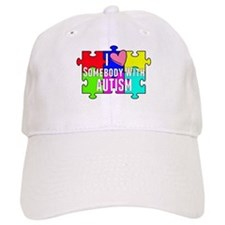 I Heart (love) Somebody With Autism Baseball Baseball Cap