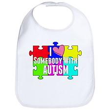 I Heart (love) Somebody With Autism Bib