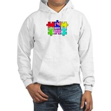 I Heart (love) Somebody With Autism Hoodie