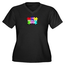 I Heart (love) Somebody With Autism Plus Size T-Sh