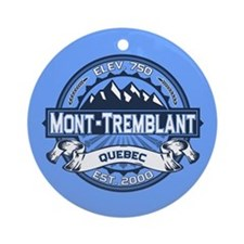 Mont-Tremblant Blue Ornament (Round)