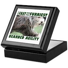 Beardie Agility! Keepsake Box