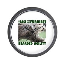 Beardie Agility! Wall Clock