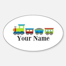 Personalizable Train Cartoon Decal