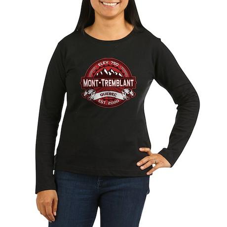Mont-Tremblant Red Women's Long Sleeve Dark T-Shir