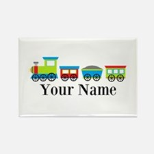 Personalizable Train Cartoon Rectangle Magnet