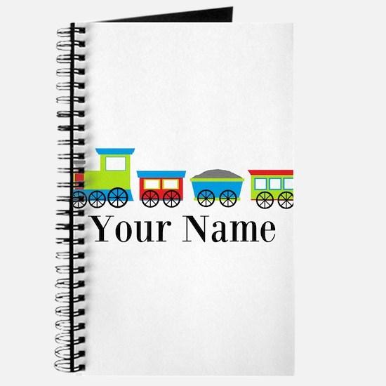 Personalizable Train Cartoon Journal