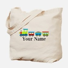 Personalizable Train Cartoon Tote Bag