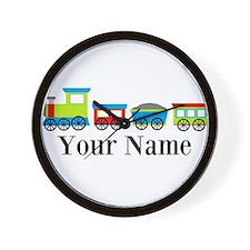 Personalizable Train Cartoon Wall Clock