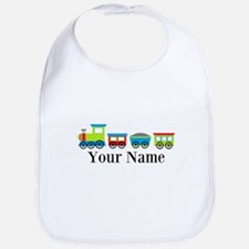 Personalizable Train Cartoon Bib