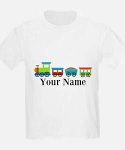 Personalizable Train Cartoon T-Shirt