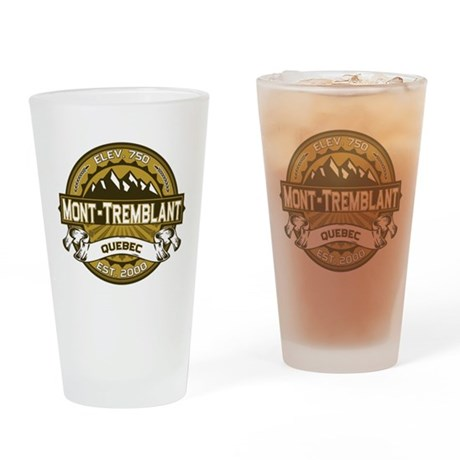 Mont-Tremblant Tan Drinking Glass