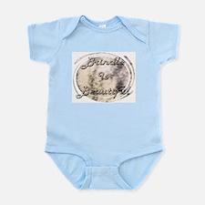 BRINDLE IS BEAUTIFUL BLUE INFANT CREEPER