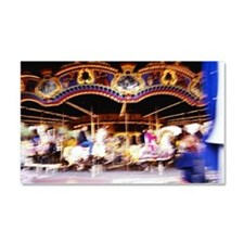 A merry-go-round in motion (blu Car Magnet 20 x 12