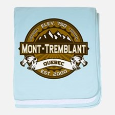 Mont-Tremblant Olive baby blanket
