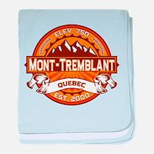 Mont-Tremblant Tangerine baby blanket