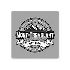 "Mont-Tremblant Grey Square Sticker 3"" x 3"""
