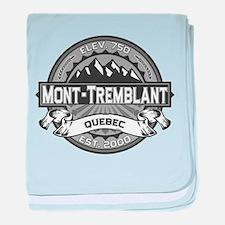 Mont-Tremblant Grey baby blanket