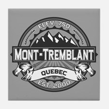 Mont-Tremblant Grey Tile Coaster